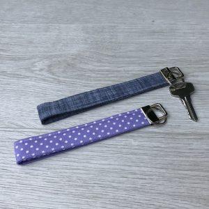 Fabric Wristlet Keyring Strap - New Home Owner - Stocking filler
