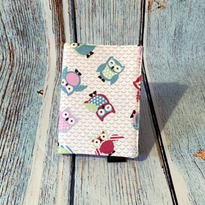 A6 Notebook Cover – Owl Patten Cotton Fabric