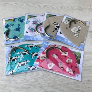 Animal Print Coin Purse Sewing Kit with Kiss Clasp - Ideal Stocking Filler
