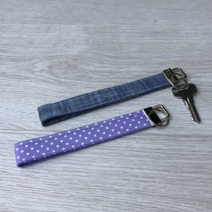 Fabric Wristlet Keyring Strap - New Home Owner - Stocking filler