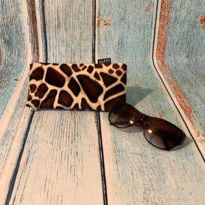 Glasses Case – Giraffe Print Faux Fur Fabric