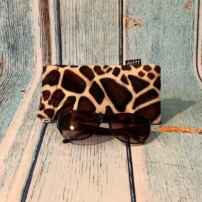 Glasses Case – Giraffe Print Faux Fur Fabric