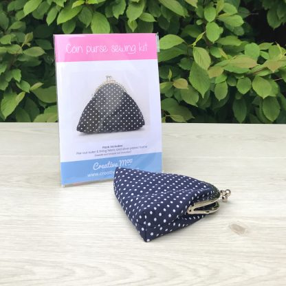 Polka Dot Coin Purse Sewing Kit with Kiss Clasp - Ideal Stocking Filler